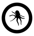 devilfish black icon in circle isolated vector image
