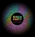 disco lights rainbow geometric neon glowing grid vector image