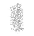 drawing background with flowers vector image vector image
