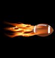 Flaming Football vector image vector image