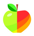 flat apple design vector image vector image