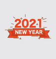 flat design 2021 happy new year vector image vector image