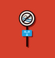 flat icon design collection no swimming sign in vector image vector image