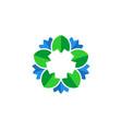 flower leaf vector image vector image