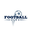 football club flying ball background image vector image
