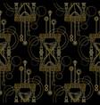 geometric sandglass seamless pattern vector image
