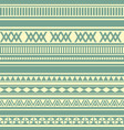 geometric seamless pattern green and yellow vector image vector image