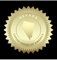 Gold star label Nevada vector image