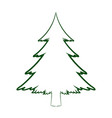 green silhouette pine tree christmas celebration vector image vector image