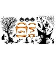 Happy Halloween background with holiday symbols vector image vector image