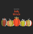 happy halloween poster with cute glamorous vector image vector image