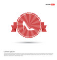 high-heels icon - red ribbon banner vector image