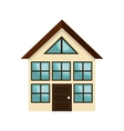 icon house home building isolated vector image vector image