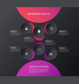 Infographic template with five colorful shapes