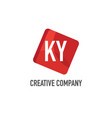 initial letter ky logo template design vector image vector image