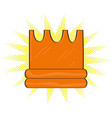 isolated comic golden crown icon vector image