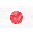 Japan flag - triangular polygonal pattern on pond vector image vector image