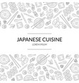 japanese cuisine banner template with asian food vector image vector image