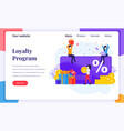 landing page design concept loyalty marketing vector image vector image