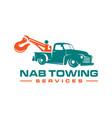 logo design tow truck services vector image vector image