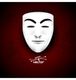 Mask anonymous on red vector image vector image