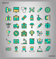 medical and healthcare color line icons perfect vector image vector image