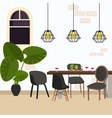 meeting dining room modern chair in empty working vector image