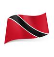national flag of trinidad and tobago black vector image