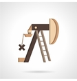 Oil pump jack flat icon vector image vector image