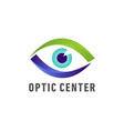 optic medical eye logo vector image