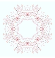 Ornamental lace pattern Circle vector image