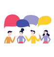 people communication concept dialog with bubble vector image