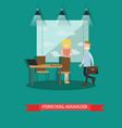 personal manager concept in vector image