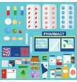 Pharmacy and medical icons infographic elements vector image vector image