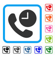 phone time framed icon vector image