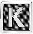 Polka Dot Font LETTER K vector image vector image