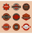 Racing badges - vintage style vector image vector image