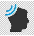 Radio Reception Brain Icon vector image vector image