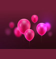 realistic pink balloon vector image