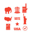 republican elephant elections icon set symbols of vector image