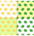 seamless pattern with lemons and limes doodle vector image vector image