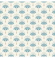 Seamless pattern with umbrellas and rain drops vector image vector image