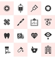 Set of black medical icons vector image vector image