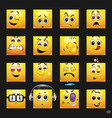 set of face icons set of face icons with vector image vector image