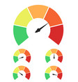 set of measuring icons speedometer or rating vector image