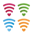 Set of wireless network symbol made with vector image