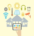 smart house resize vector image vector image