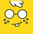 smile icon template design botan smart emoticon vector image
