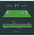 soccer field with set infographic elements vector image vector image