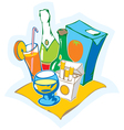 Still life with drinks vector image vector image